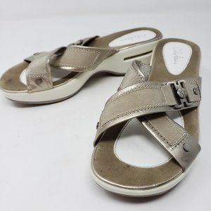 Cole Haan Air Rose Gold Cross Strap Driving Sandal